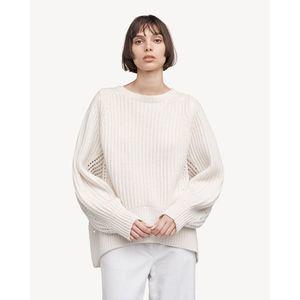 *flaw Rag & Bone Cashmere Athena Sweater Cream M